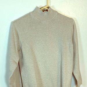 Beige mock neck sweater